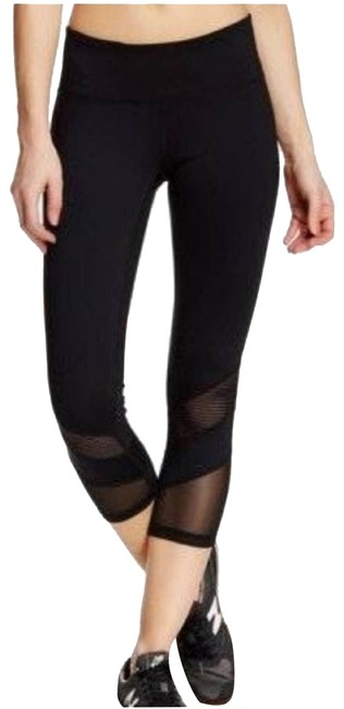 Item - Black Z By Mesh Mid Rise Leggings S Activewear Bottoms Size 6 (S, 28)