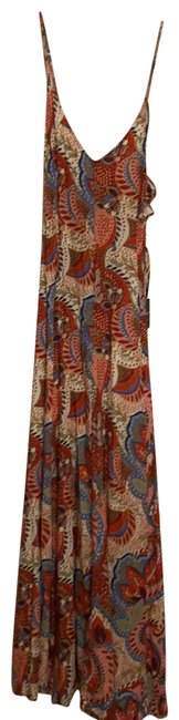 Item - Red Multi Long Casual Maxi Dress Size 2 (XS)
