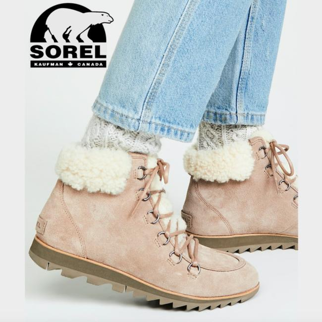 Item - Brown Harlow Waterproof Genuine Shearling Combat Boots/Booties Size US 6 Regular (M, B)