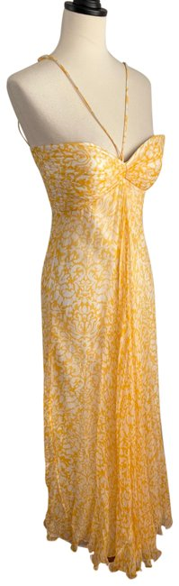Item - Silk Printed Halter Gown Long Formal Dress Size 0 (XS)