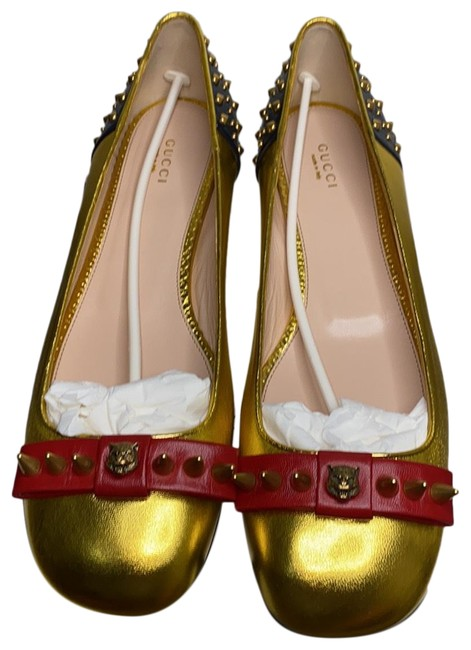 Item - Gold Red Blue 432591 Flats Size EU 42 (Approx. US 12) Regular (M, B)