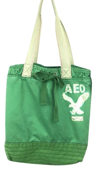 Item - Aeo Embroidered Tote/Purse Green Canvas Tote