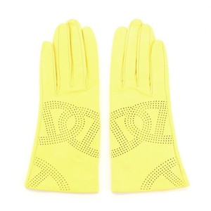 Item - Yellow Salsa Gloves Perforated Leather