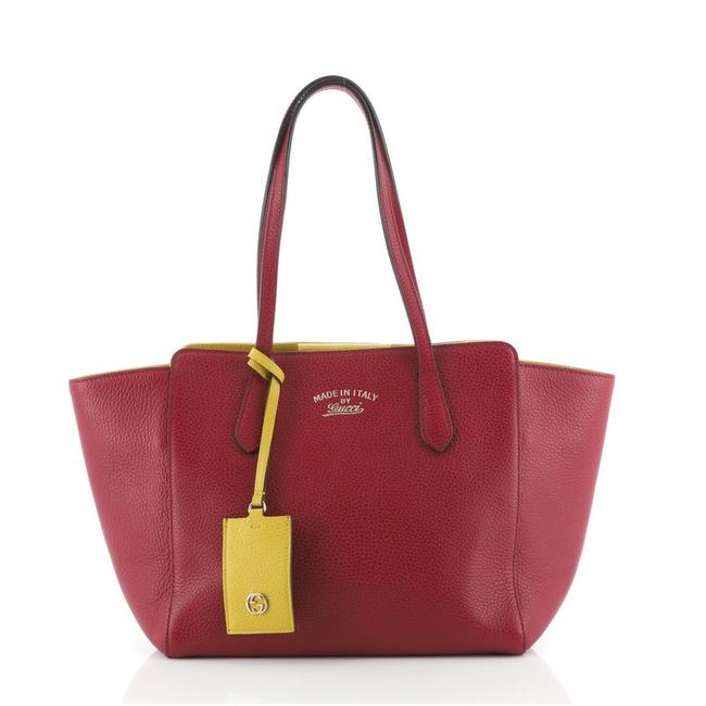 Item - Bag Swing Small Purple Leather Tote