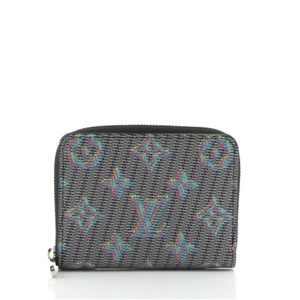 Item - Blue Pink Print Yellow Zippy Coin Purse Damier Monogram Lv Pop Canvas Wallet