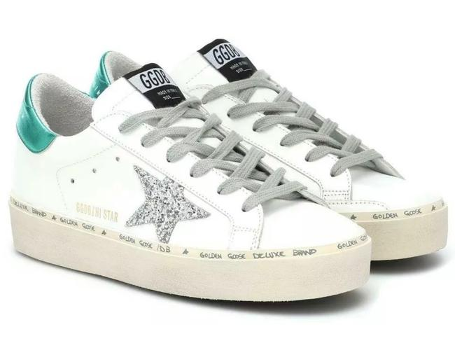 Item - White New Current Hi Star Leather Embroidered 41/11 Sneakers Size US 11 Regular (M, B)