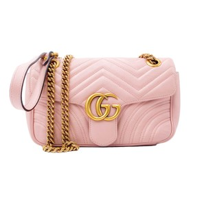 Item - GG Marmont Calfskin Matelasse Small Perfect Pink Leather Shoulder Bag