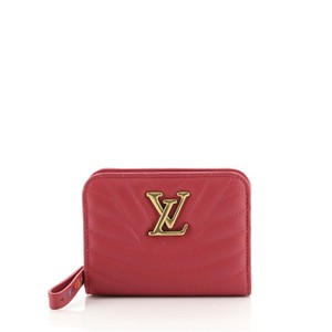 Item - Pink New Wave Zipped Compact Quilted Leather Wallet