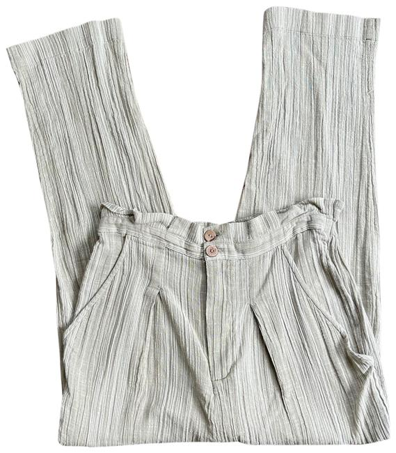Item - Green Highwaisted Paperbag Beachy Pants Size 4 (S, 27)