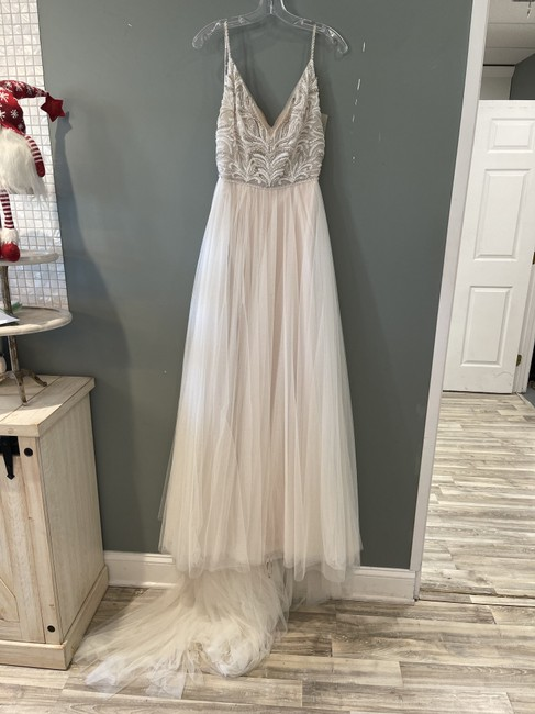 Item - Ivory Over Pale Blush Tulle Charlene Formal Wedding Dress Size 18 (XL, Plus 0x)