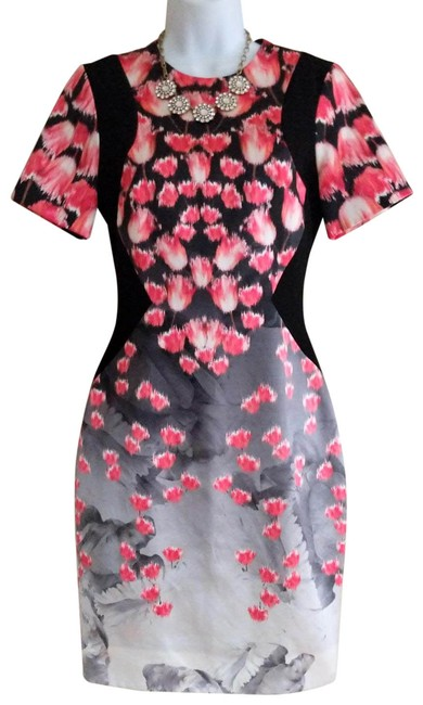 Item - Silver and Pink Ombre Short Cocktail Dress Size 4 (S)