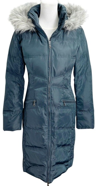 Item - Steel Gray Women's Removable Hood Puffer Jacket Coat Size 8 (M)