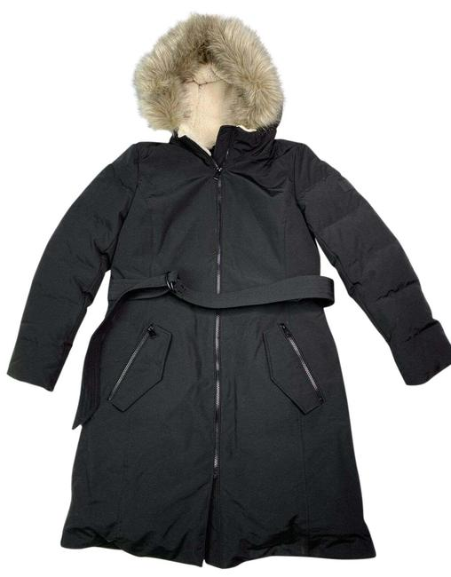 Item - Black XS Down Parka Hood Belt Faux Fur Trim Coat Size 2 (XS)