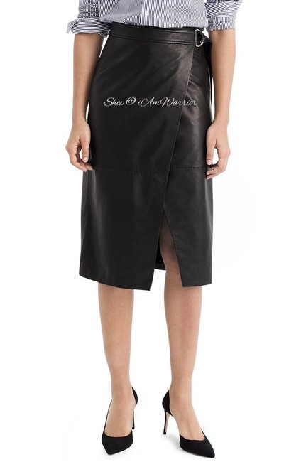 Item - Black Collection Leather Wrap Skirt Size 12 (L, 32, 33)