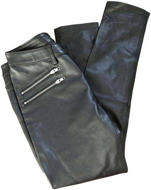 Item - Black Minkoff Moto Leather New Pants Size 4 (S, 27)