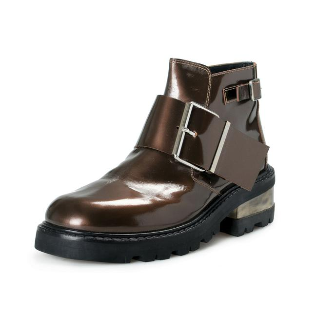Item - Bronze Men's Polished Leather Ankle Boots/Booties Size US 10 Regular (M, B)