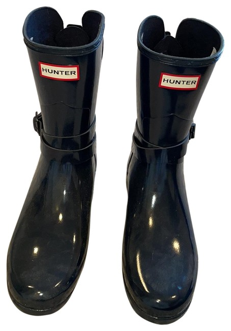 Item - Navy Ankle Rainboots Boots/Booties Size US 9 Regular (M, B)