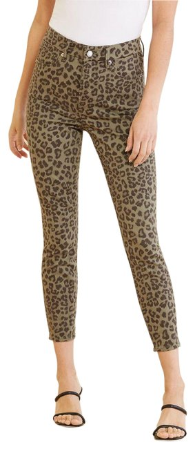 Item - Leopard Coated Waste Skinny Jeans Size 24 (0, XS)