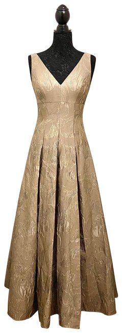 Item - Gold Ball Gown Long Casual Maxi Dress Size 4 (S)