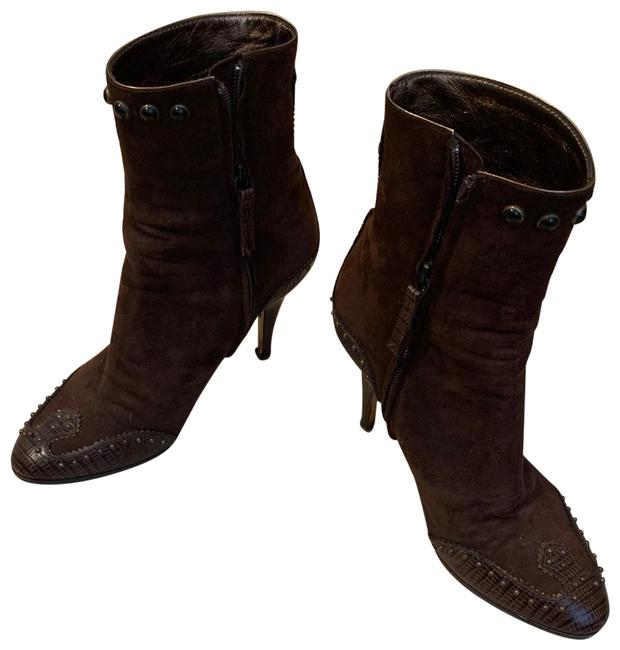 Item - Brown Leather Suede Heels 8.5 Boots/Booties Size EU 39 (Approx. US 9) Regular (M, B)