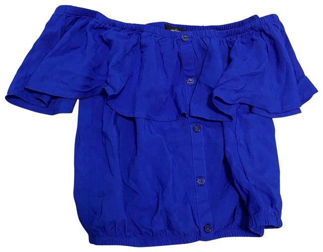 Item - Blue Sexy Small Blouse Size 4 (S)
