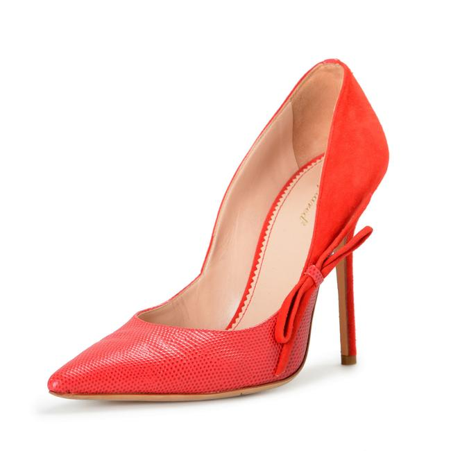 Item - Red Women's Suede Leather High Pumps Size US 9 Regular (M, B)