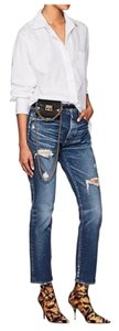 Item - Blue Distressed Tapered Skinny Jeans