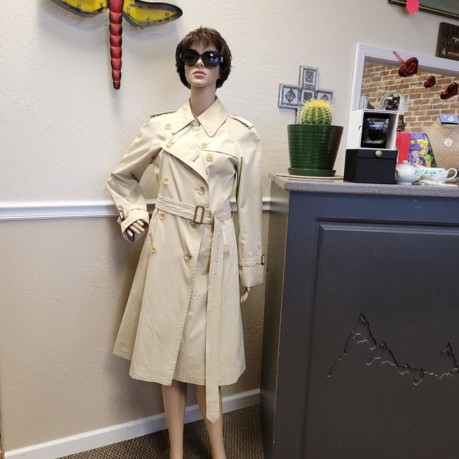 Item - Taupe and Brown Buckle Double Breasted Bell Coat Size 6 (S)