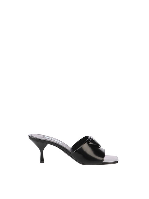 Item - Black Leather In Calf Leather Sandals Size EU 40 (Approx. US 10) Regular (M, B)