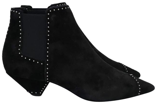 Item - Black Paris Studded Leather Suede Ankle Boots/Booties Size EU 37 (Approx. US 7) Regular (M, B)