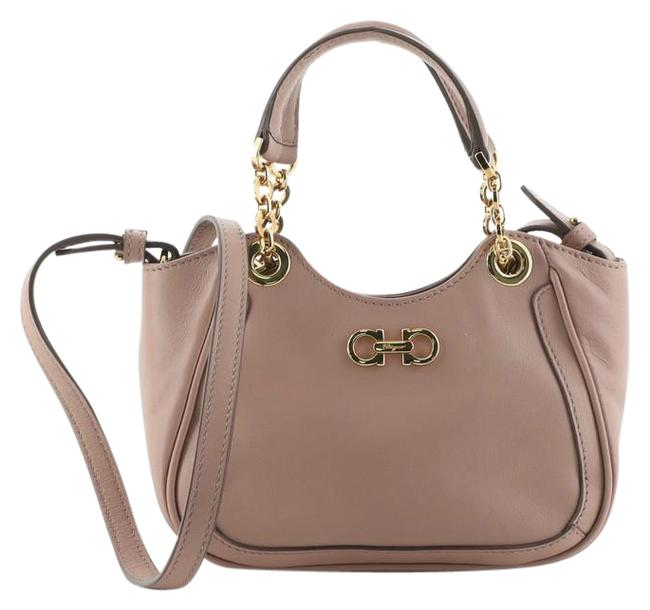 Item - Crossbody Gancio Chain Mini Pink Leather Tote