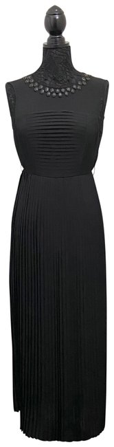 Item - Black Sleeveless Pleated Long Casual Maxi Dress Size 4 (S)