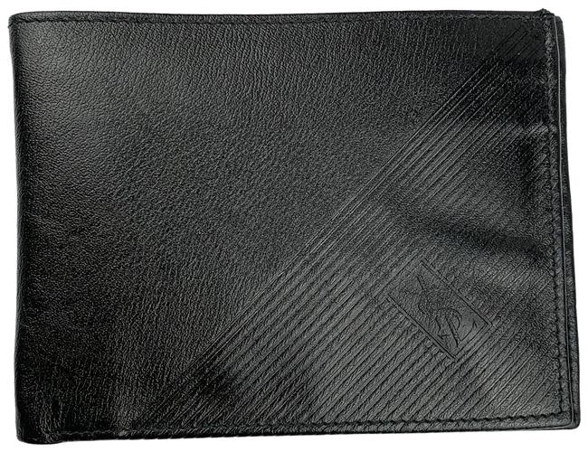Item - Black Vintage Leather Bifold Wallet