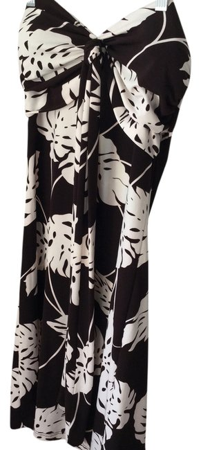 Preload https://item5.tradesy.com/images/kiwi-black-and-white-tropical-sundress-or-bathing-suit-cover-up-knee-length-night-out-dress-size-8-m-2862184-0-0.jpg?width=400&height=650