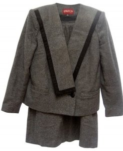 Casual Corner GRAY WOOL - SATIN LINED