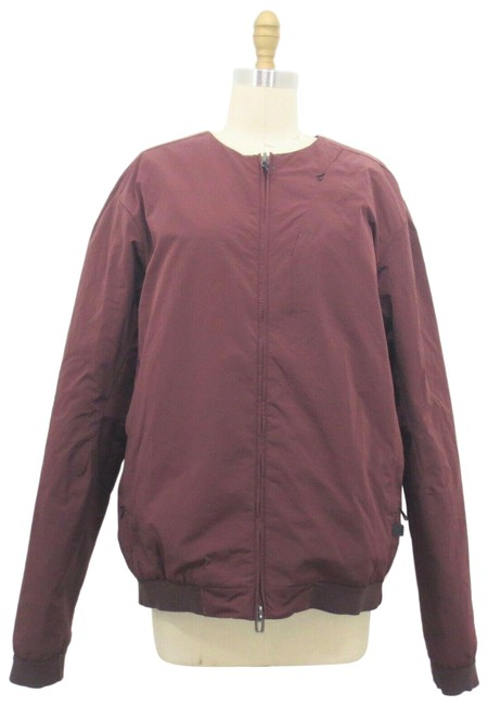 Item - Red M Burgundy Ashta Reversible Quilted Puffer Zip Up Bomber Activewear Size 8 (M)