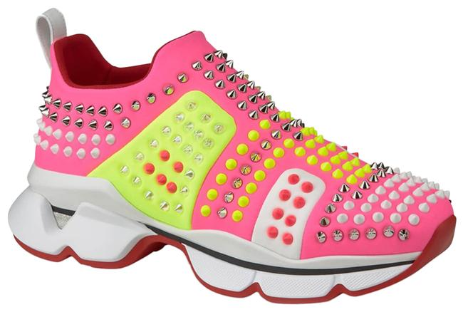 Item - Neon Pink/Neon Yellow Funfor Run Donna Spiked Studded Neoprene Sneakers Size EU 42 (Approx. US 12) Regular (M, B)