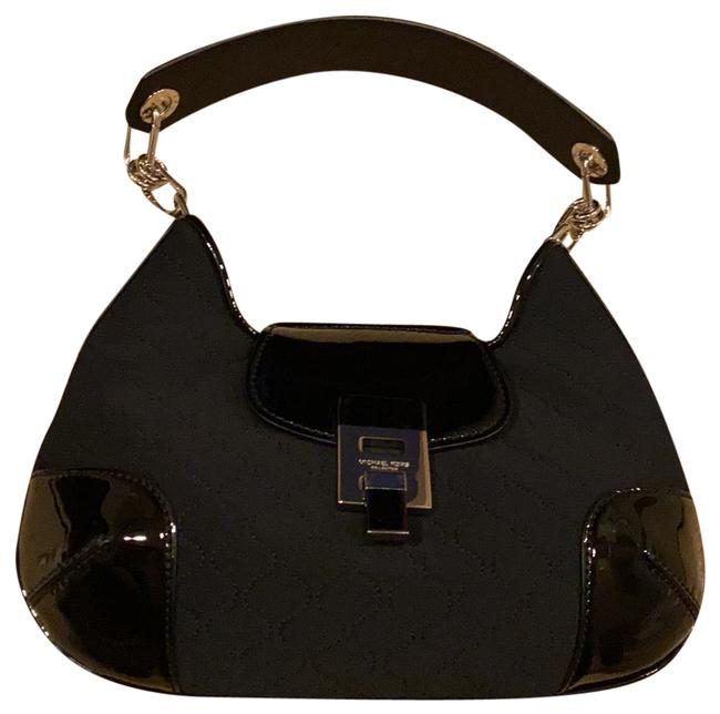 Item - Bancroft Medium Quilted Black Neoprene/Patent Shoulder Bag