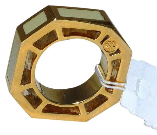 Preload https://item1.tradesy.com/images/tory-burch-ivory-octagon-rylan-goldivory-cocktail-size-6-ring-2862250-0-0.jpg?width=440&height=440