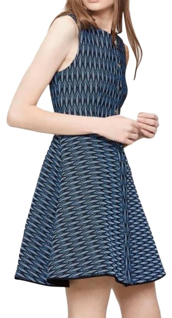 Item - Blue Rock Jacquard A-line Short Casual Dress Size 6 (S)