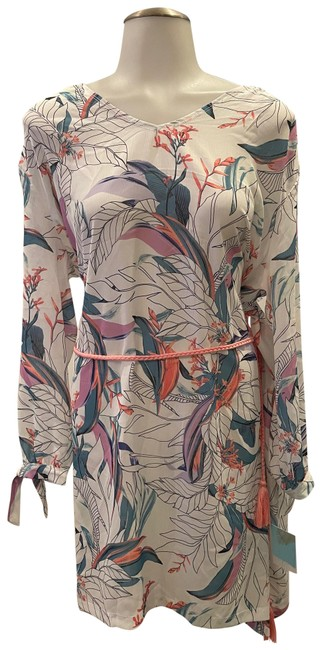 Item - Multicolor Floral Tassel Tie Cover-up/Sarong Size 6 (S)