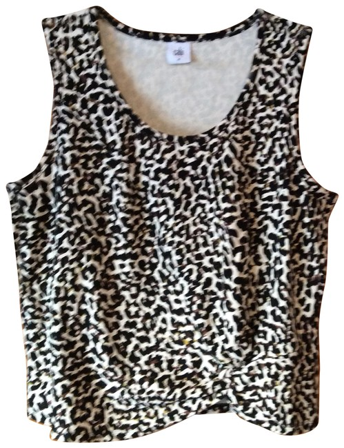 Item - Black Brown Cream Knotty #5759 Spring 2020 Tank Top/Cami Size 10 (M)