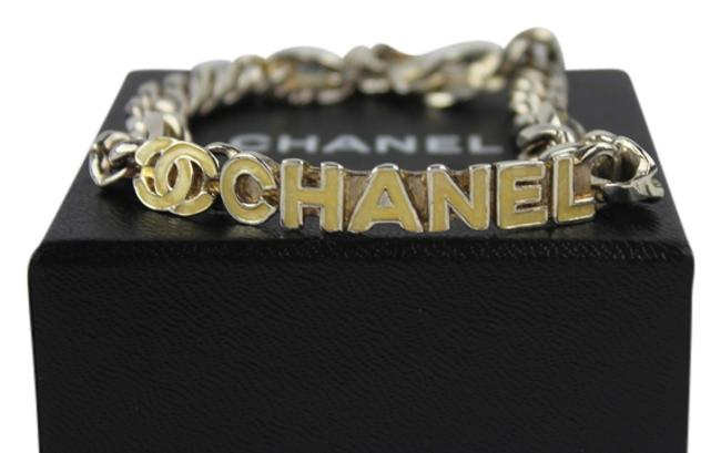 Item - Peach Name Word Plate Chain Toggle Bracelet