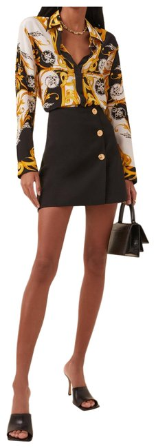 Item - Black with Gold Buttons Skirt Size 2 (XS, 26)