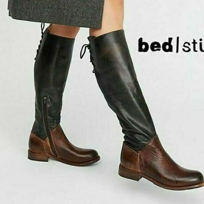 Item - Black Brown Manchester Knee High Lace Tie Riding Boots/Booties Size US 6 Regular (M, B)