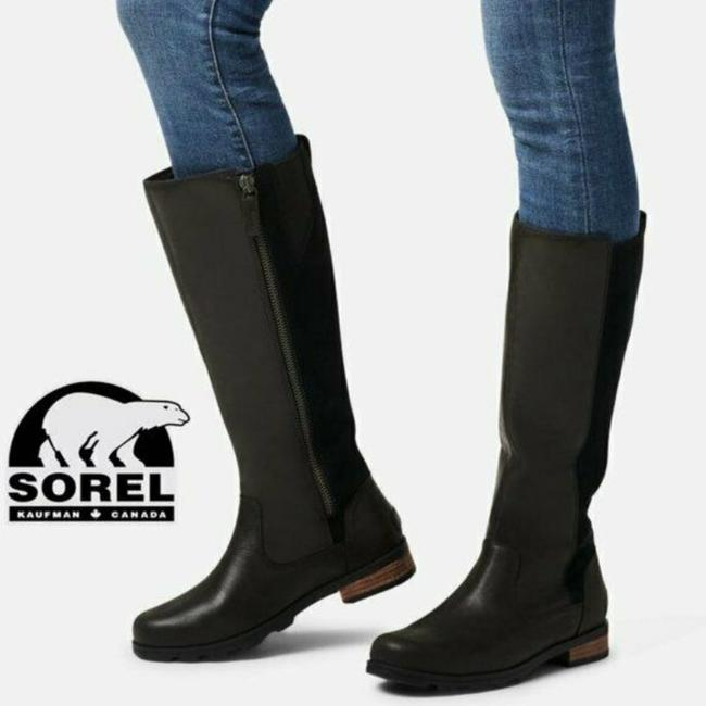 Item - Black Emelie Waterproof Tall Riding Leather Suede Boots/Booties Size US 7 Regular (M, B)