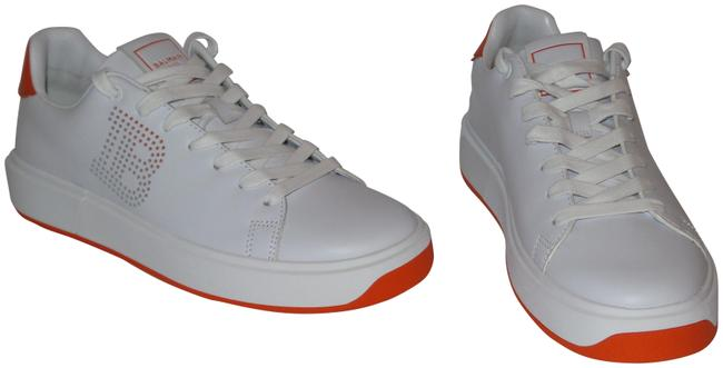 Item - White Perforated B-court Low Top Lace Up Sneakers Size EU 39 (Approx. US 9) Regular (M, B)