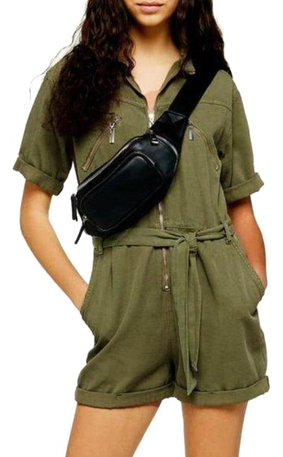 Item - Green Utility Romper/Jumpsuit