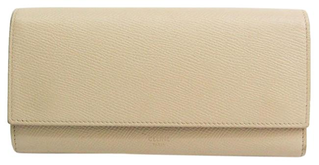 Céline Light Beige Long Women's Leather (Bi-fold) Wallet Céline Light Beige Long Women's Leather (Bi-fold) Wallet Image 1