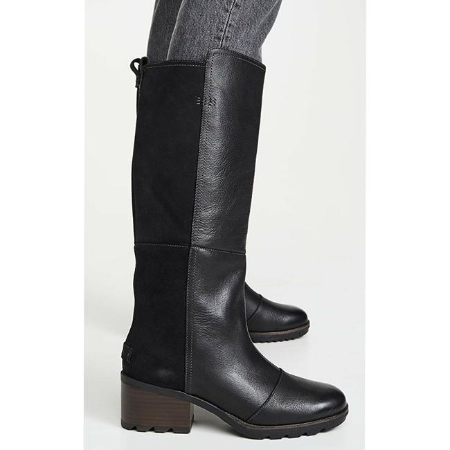 Item - Black Cate Tall Heel Waterproof Riding Cattail Boots/Booties Size US 7 Regular (M, B)